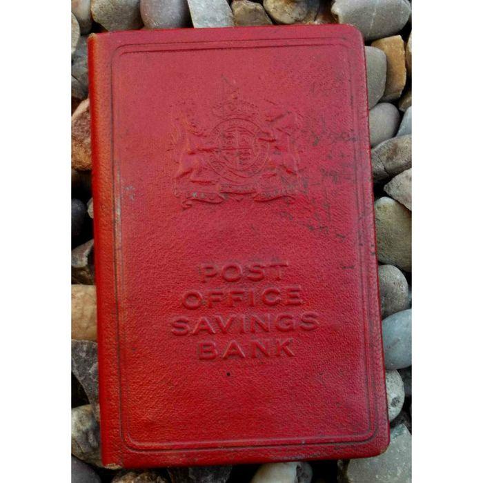 British Post Office Savings Bank Vintage Metal Book