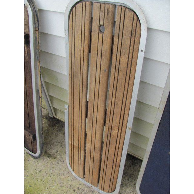 Boat SKI DOOR Floor Storage TEAK Wood on eBid United States | 143741343