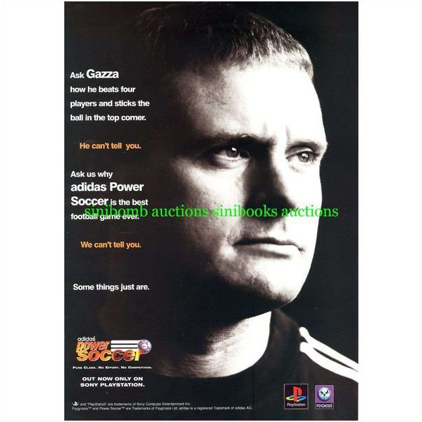 Adidas Power Soccer Ps1 Playstation 1 Gazza Original Magazine Advert 8530 On Ebid United States 116166618