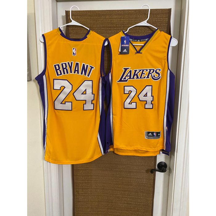 Size XL Men's #24 Kobe Bryant Los Angeles Lakers Stitched Jersey Yellow NWT 884082991414 on eBid United States | 199869521