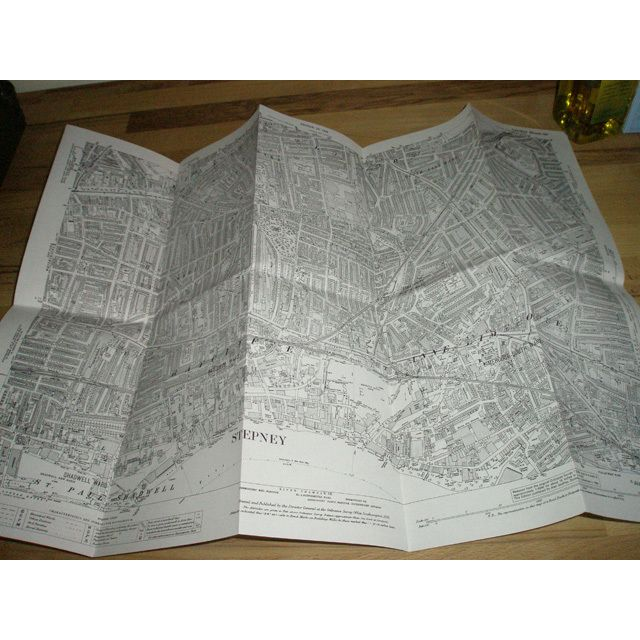 Old Ordnance Survey Detailed Maps Stepney /& Limehouse London 1914 Godfrey Edit