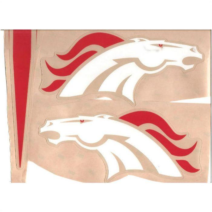 Denver Broncos THROWBACK FULL SIZE FOOTBALL HELMET DECAL W//STRIPE /& BUMPERS