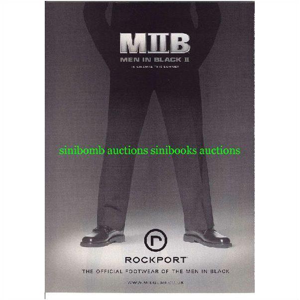 Mib Ii Men In Black 2 Rockport Footwear Shoes Original Magazine Advert 15356 On Ebid United States 119591837