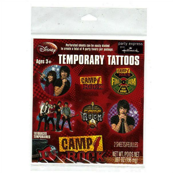 Disney Party Express from Hallmark Camp Rock Temporary Tattoos