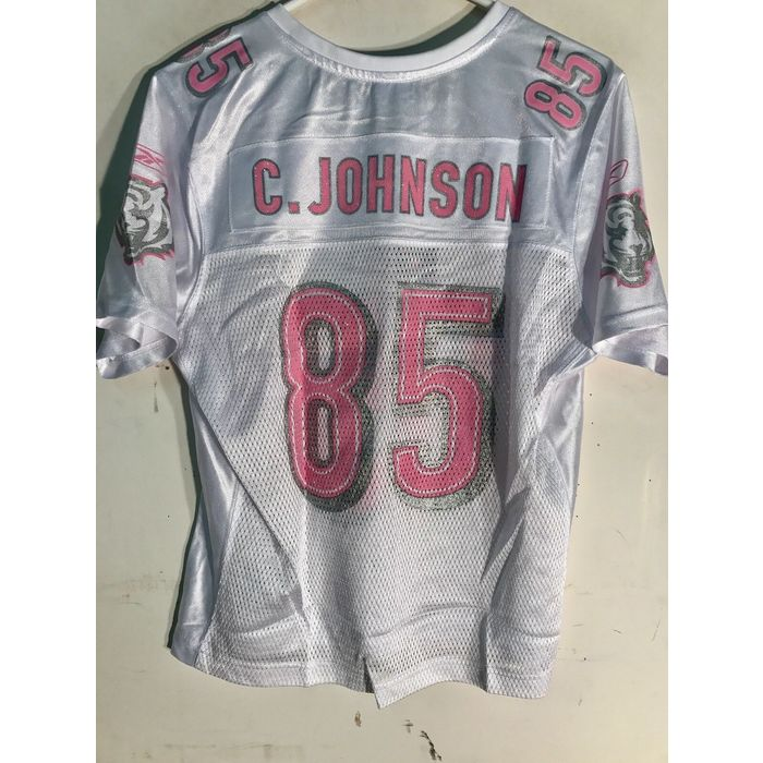 Reebok Women's NFL Jersey Cincinnati Bengals Chad Johnson White Pink Numbers S on eBid Ireland   199445620