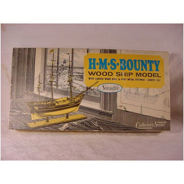 Vintage Old Collectible Hms Bounty Wood Ship Scientific Model Boat Kit On Ebid United States 117409744