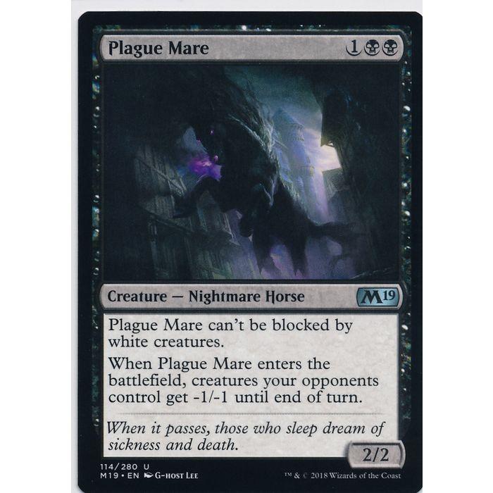 114//280 - M19 Magic 2019 Core Set Uncommon 4 x Plague Mare