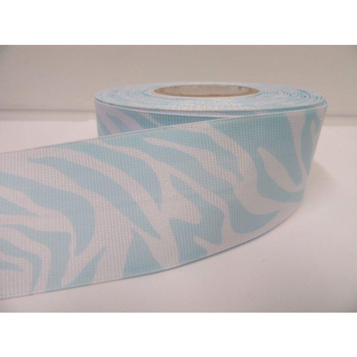 2 metres or 20 metre full roll x 38mm Zebra Print Ribbon Animal 38 mm UK VAT