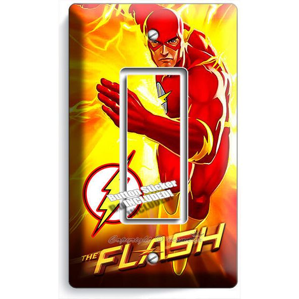 electrical wall plate covers decorative electrical wall.htm flash comics super hero yellow flames single gfci light switch  flash comics super hero yellow flames