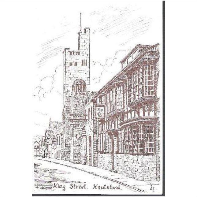 Knutsford Cheshire King Street Art Postcard C 1970s