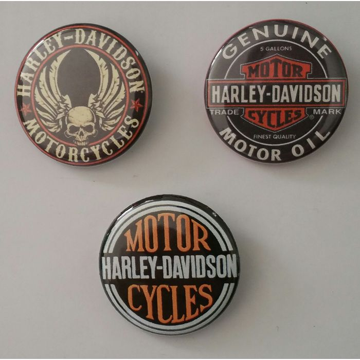 #22 Pin Button Badge Ø38mm//Ø56mm Harley-Davidson