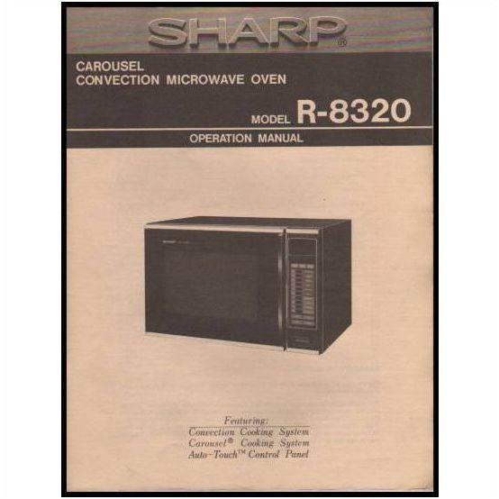 Sharp Carousel Microwave R 8320 Ops