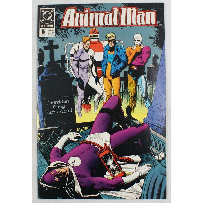Animal Man 1988 16 Time Commander Elongated Man Metamorpho