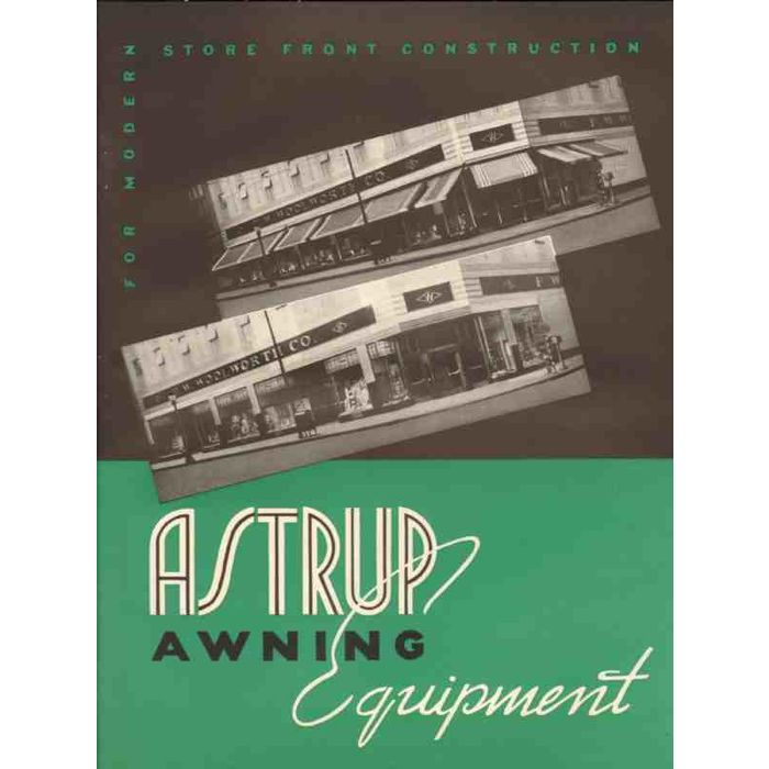 Astrup Company 1941 Manufacture Awning Fabric Hardware