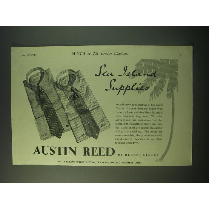 1940 Austin Reed Sea Island Shirts Ad Sea Island Supplies On Ebid Ireland 159168125