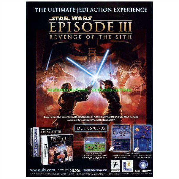 Star Wars Revenge Of The Sith Gba Nintendo Ds Original Magazine Advert 28088 On Ebid United Kingdom 156386821