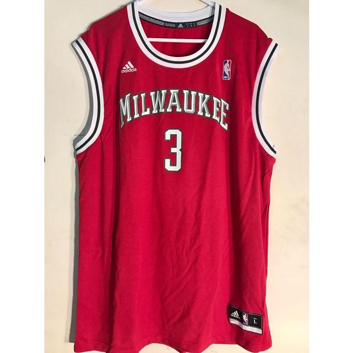 Adidas NBA Jersey MILWAUKEE Bucks Brandon Jennings Red sz 2X