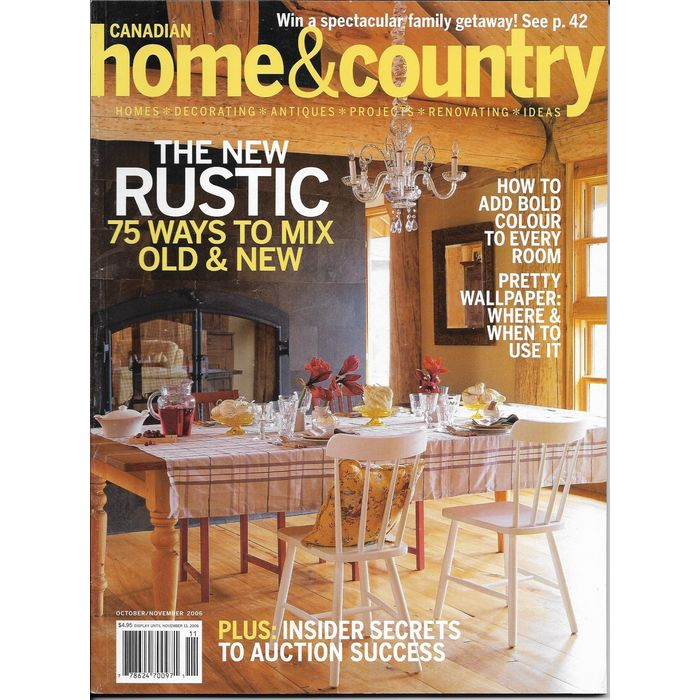 Canadian Home And Country Magazine Oct Nov 2006 Decorating Antique Ideas Project On Ebid United States 166011236