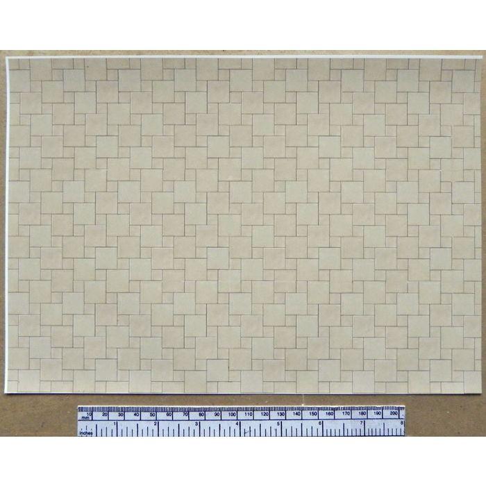 Dolls house 1//12th scale paper beige ceramic tile flooring A4 sheet