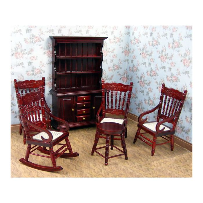Wondrous Rocking Chair 3 Chairs A Stool And A Dresser 1 12 Scale Dolls House Furniture On Ebid United States 173000371 Squirreltailoven Fun Painted Chair Ideas Images Squirreltailovenorg