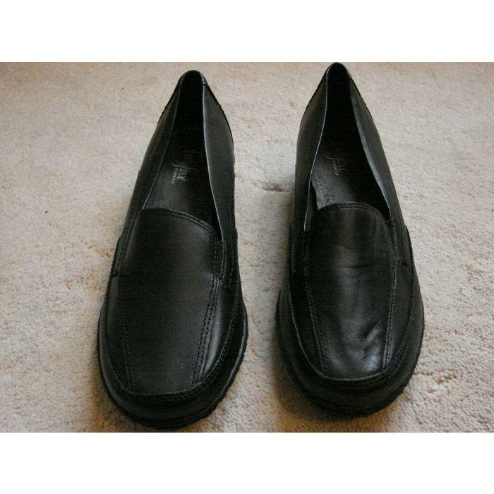 M\u0026S Black Leather Wider Fit Foot Glove