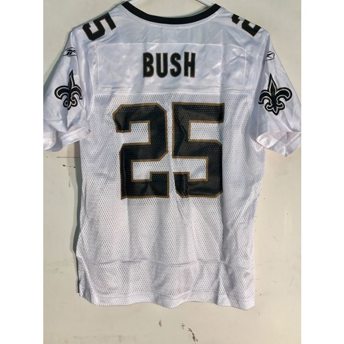 Reebok Women's NFL Jersey New Orleans Saints Reggie Bush White sz M on eBid New Zealand   199444865