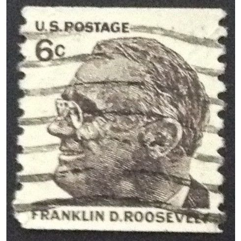 Us Stamp 1305 Used 1968 6c Franklin D Roosevelt Vertical Coil 6 On Ebid United States 141404194