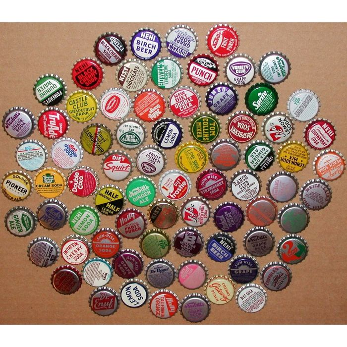 Vintage soda pop bottle caps CHOCOLATE FLAVORS Lot of 5 different new old stock