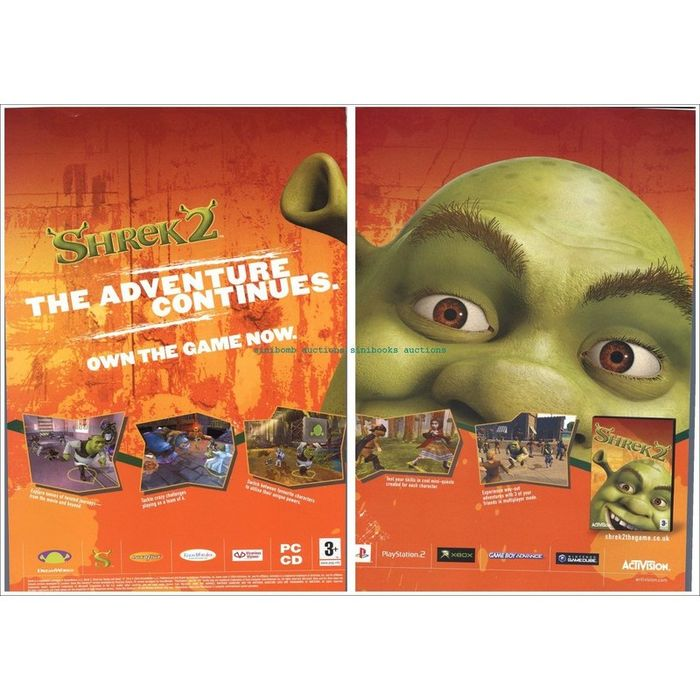 Shrek 2 Nintendo Gamecube Ps2 Xbox Magazine Dps Advert 41399 On Ebid United States 134919440
