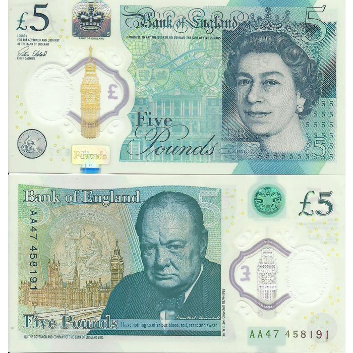 Polymer Five Pound Banknote Prefix Aa47