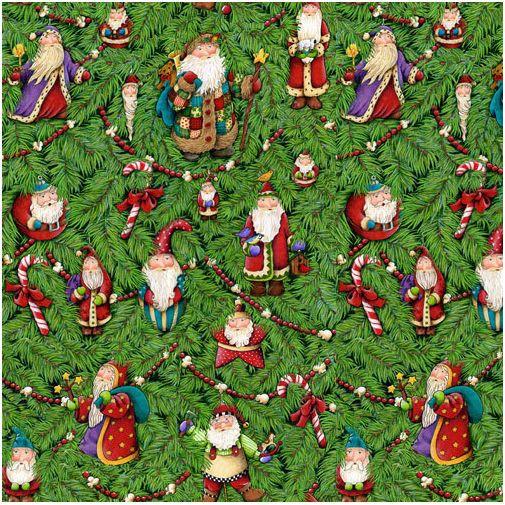 Fat Quarter Christmas Santa/'s Journey Green Cotton Quilting Fabric  SPX Fabrics