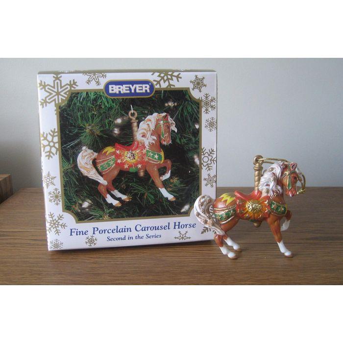 NIB Breyer 700501 2001 Porcelain Carousel Horse Holiday Christmas Ornament
