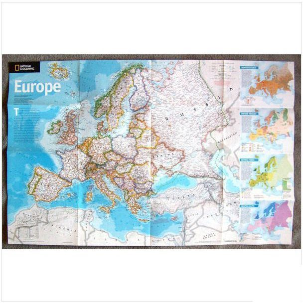 2005 Map Europe Reshaping A Continent National Geographic On Ebid United States 138244249