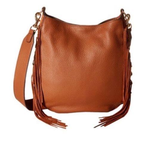 Nwt Rebecca Minkoff Medium Leather Lima Fringe Crossbody Bag Almond 375 846632739563 On Ebid United States 177131130