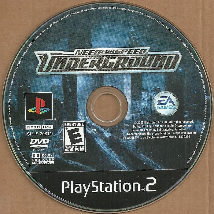 Need For Speed Underground Playstation 2 Game Ps2 Dvd Ps 2 Ntsc U