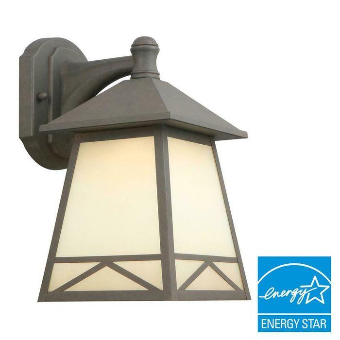 Bronze Outdoor Led Wall Lantern
