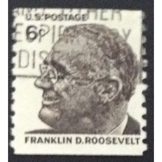 Us Stamp 1305 Used 1968 6c Franklin D Roosevelt Vertical Coil 5 On Ebid United States 141404193