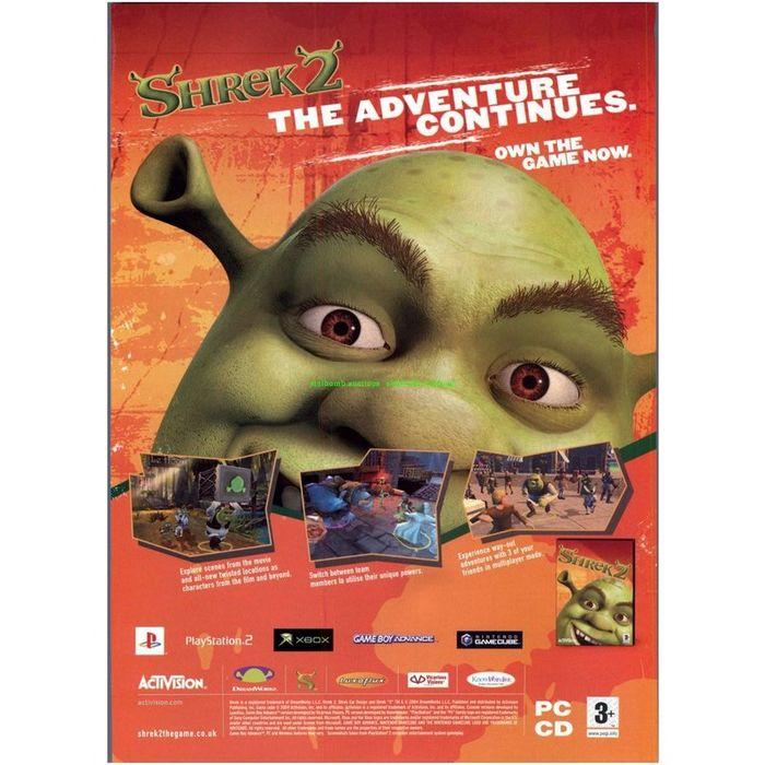Shrek 2 Xbox Ps2 Gba Nintendo Gamecube Original Magazine Advert 34894 On Ebid Australia 131578784