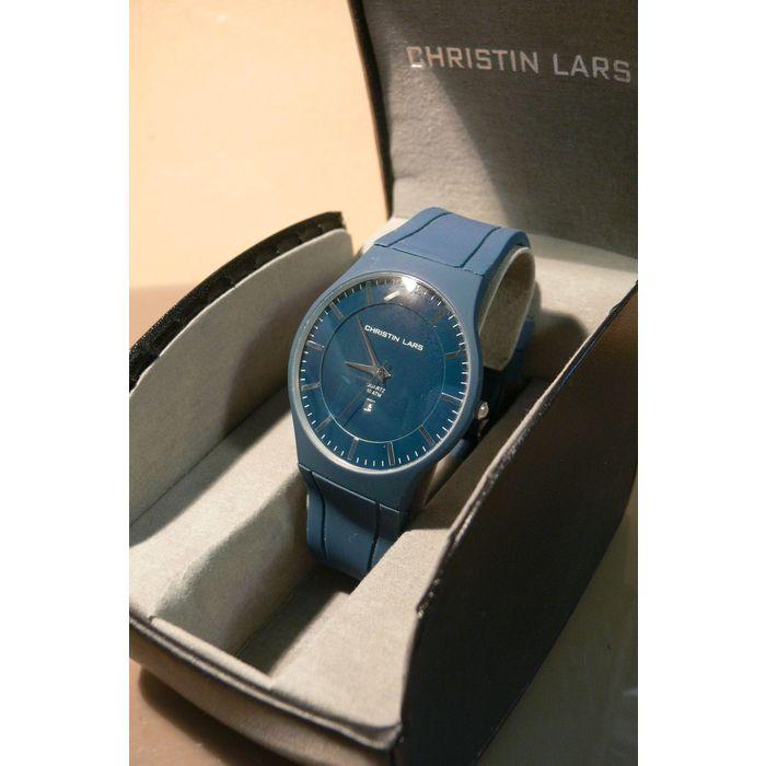christin lars mens gents wristwatch siilcon blue strap blue dial chl 84 on eBid United Kingdom | 158685574
