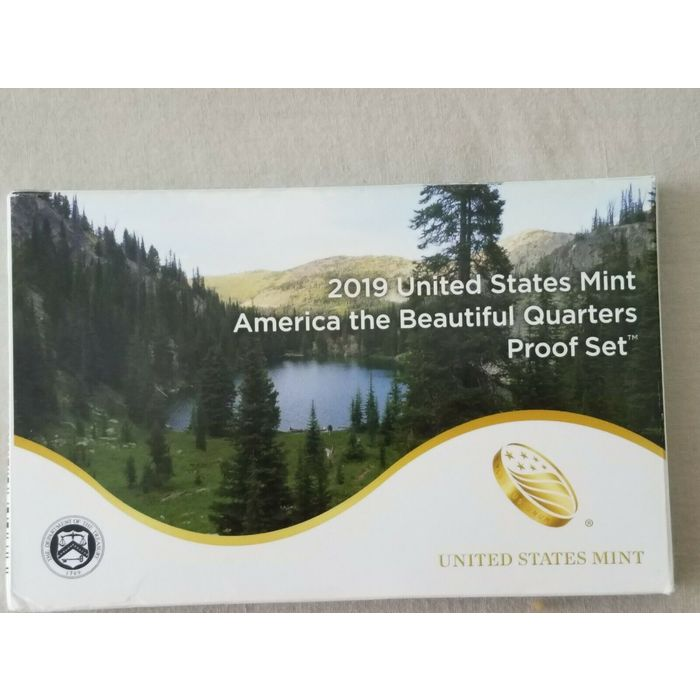 2019 Clad PROOF America Beautiful QUARTER5 coin set,wIth COA but no box NEW !!