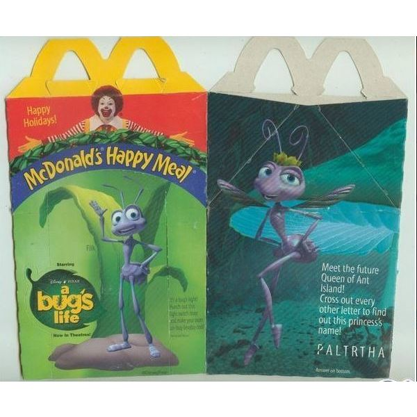 A Bug/'s Life 1998 Happy Meal Toys Full Set