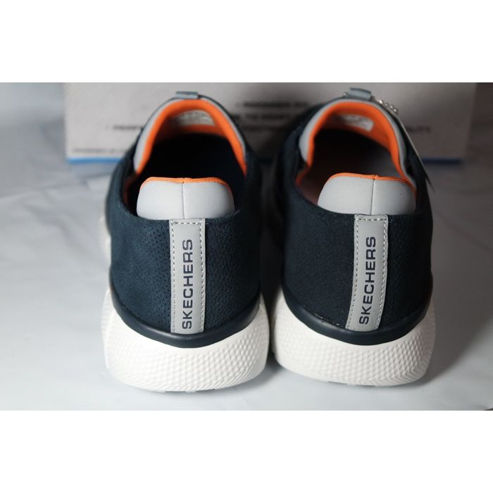 New Arrival Skechers Mens Navy Equalizer Timepiece Trainers 12
