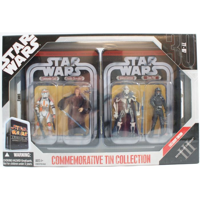 STAR WARS 30TH DARTH VADER KMART EXCLUSIVE TIN COLLECTION LOOSE COMPLETE