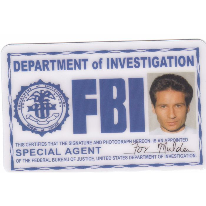 Special Agent Fbi Badge Of Fox Mulder David Duchovny Id For Ur Halloween Costume On Ebid United States 64104607 We regularly add new gif animations about and. special agent fbi badge of fox mulder david duchovny id for ur halloween costume on ebid united states 64104607