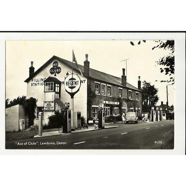 Devon LEWDOWN Ace Of Clubs Filling Station Postcard by Overland (41/33) on  eBid United Kingdom | 153886701