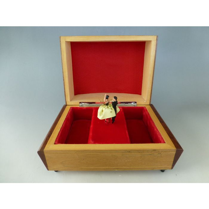 Vintage Musical Jewelry Box With Dancing Couples