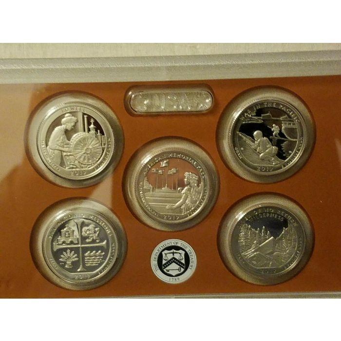 2010 Clad Proof quarter set No Box//COA 5 coins