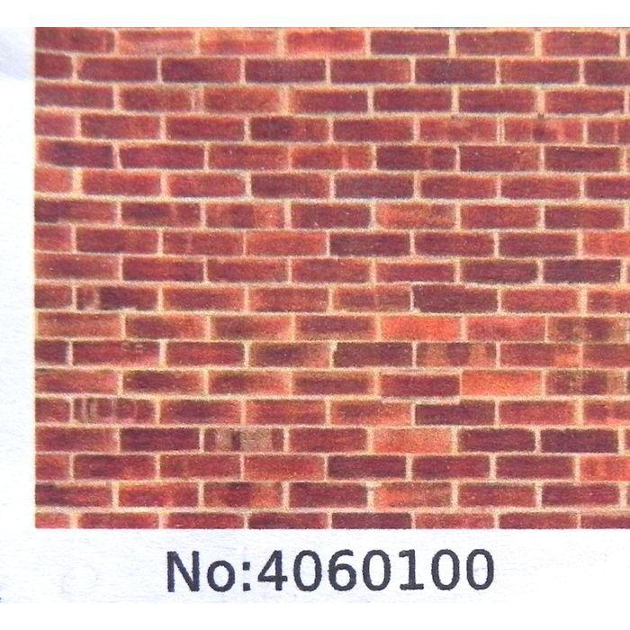 "self adhesive vinyl A4 sheet /""brown brick/"" O gauge 1:48 scale"