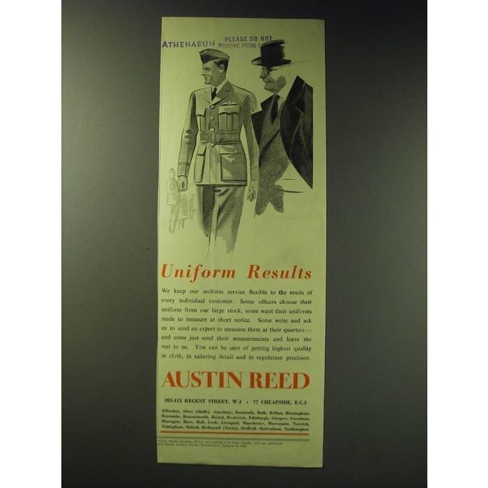 1942 Austin Reed Uniforms Ad Uniform Results On Ebid New Zealand 159169690