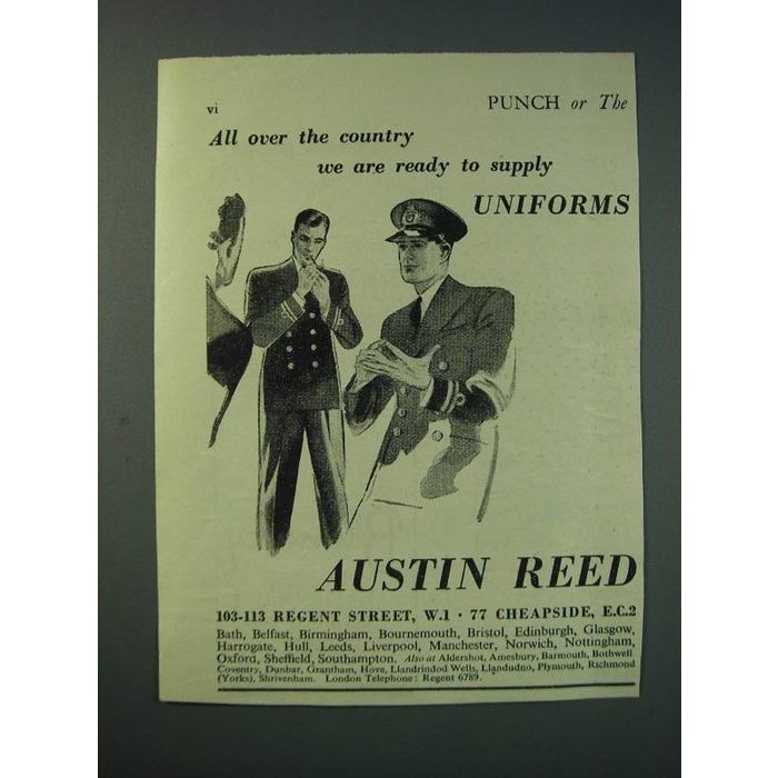 1942 Austin Reed Uniforms Ad All Over The Country We Are Ready To Supply On Ebid New Zealand 159169689